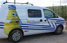 Rotulación vehículo comercial Electricista www.logovision.es