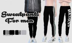 Rinvalee: Sweatpants for men • Sims 4 Downloads