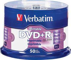 Verbatim - 16x Dvd+r Discs (50-Pack) - White