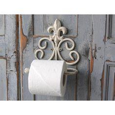 wieszak na papier toaletowy Lilijka  #hanger #toiletpaper #toilet #lily #vintage