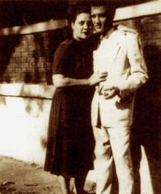 This is a truly wonderful pic of Elvis & his beloved Mama. I believe this was taken on the day he graduated high school....1953. Gladys looked so young & pretty here.