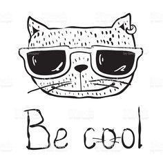 Be cool cat stock vecteur libres de droits libre de droits