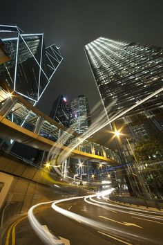 'City Night of Hong Kong' was taken by Lee Yiu Tung. The extreme perspective of the buildings against the light-trails of traffic passing by make this image a great city scene.