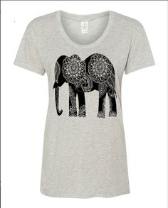 Womens Paisley ELEPHANT BOHO Bohemian Slouchy T by FreeBirdCloth