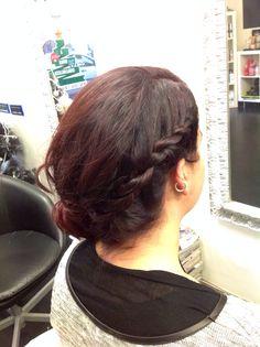 Side swept hair