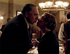 "One of the last Chelsie moments in the Downton finale!  Charles  ""It will be a different life"" Elsie ""But we can make a go of it Charlie and I definitely mean to try""  Elsie  ""Happy New Year""  Charles ""Happy new year Elsie"""