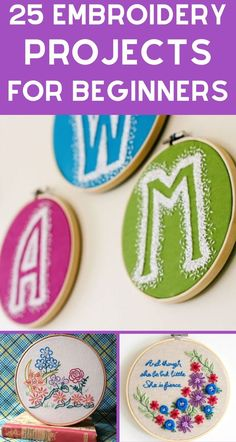 25 Easy Embroidery Projects For Beginners With Free Patterns are just what you need to get started with this fun craft. Tons of beginner cross stitch patterns on this list that result in beautiful wall hangings and samplers! Bee Embroidery, Embroidery Patterns, Cross Stitch Patterns, Fun Crafts, Amazing Crafts, Decor Crafts, Simple Embroidery Designs, Create And Craft, Cool Diy Projects