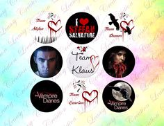 digital cabochon vampire dairies 1 in circles instant download craft supplies and toolsdigital download cabochon digital collage sheet (3.00 EUR) by SublImagebyleausy