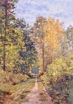 Artistic Mugs with Famous Paintings Path in the Forest Claude Monet Arp Museum Bahnhof Roland&; Artistic Mugs with Famous Paintings Path in the Forest Claude Monet Arp Museum Bahnhof Roland&; Claude Monet, Arp Museum, Renoir Paintings, Impressionist Paintings, Oil Paintings, Arte Van Gogh, Paintings Famous, Famous Landscape Paintings, Painting Wallpaper