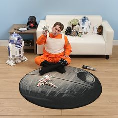 Star Wars Death Star Rug - Take My Paycheck - Shut up and take my money! Star Wars Zimmer, Star Wars Room, Geek Baby, Ultimate Man Cave, Star Rug, Star Wars Baby, Take My Money, Star Wars Gifts, Star Wars Collection