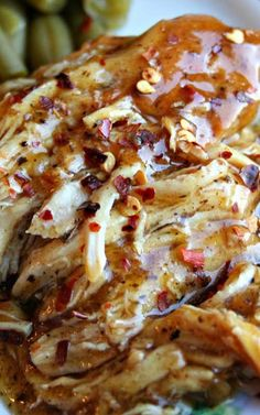 Recipe for Slow Cooker Brown Sugar and Garlic Chicken - Garlic and brown sugar? An unlikely pairing, but boy what a dynamite flavor combination. The mix of sweet and savory will have your taste buds running wild.