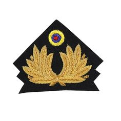 Army Officer's cap badges are gold and silver bullion wire embroidered. Hud Badges make Navy Cap Badges, Crown and Star badges in sew on variety and with Velcro backing. http://hudbadges.com/detail.php?live=1_0_0_108