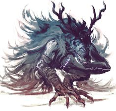 Vicaramelia by on DeviantArt - Modern Dark Creatures, Mythical Creatures Art, Fantasy Creatures, Monster Design, Monster Art, Dark Souls, Dark Fantasy Art, Dark Art, Desu Desu