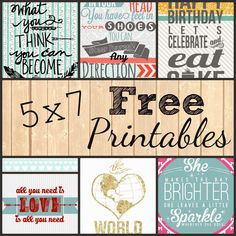 Mint of My Life: 5x7 Free Printables