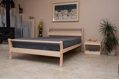 $570 Cotton Cloud Futons: Sustainable Taos Sleigh Bed Frame