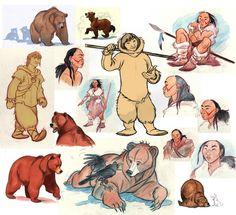 Ideas Concept Art Dreamworks Disney Characters For 2019 Art Disney, Images Disney, Disney Concept Art, Disney Movies, Disney Characters, Brother Bear, Disney Sketches, Disney Drawings, Disney And Dreamworks