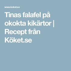 Tinas falafel på okokta kikärtor | Recept från Köket.se