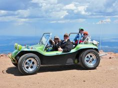 Made it to the top of Pikes Peak Vw Beach, Beach Buggy, Vw Dune Buggy, Dune Buggies, Sand Rail, Party Bus, Roll Cage, Manx, The Dunes