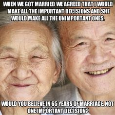Marriage advice can be good, bad or CRAZY...lol