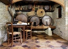 Repurposed wine barrels parquet