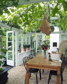 amazing greenhouse in Aalborg, Denmark Outdoor Rooms, Outdoor Living, Patio Design, House Design, Garden Design, Casa Top, Backyard Patio, Pergola Patio, Sweet Home