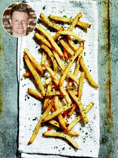 Gorgeous lemon and rosemary twice-fried French fries from Top Chef's Richard Blais