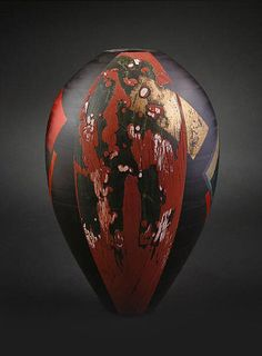 Tony Laverick. Could have kids paint their vessels black and add one color plus gold or silver in an expressive way.