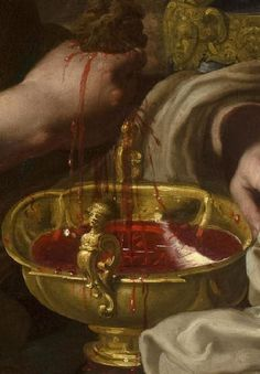 ritualcircle:    Bernardino Mei - Saint Praxedes Preserving the Blood of the Martyrs (detail) (17th century)