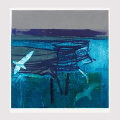 WINTER SANCTUARY | BARBARA RAE Barbara Rae, Seascape Paintings, Landscape Paintings, Abstract Landscape, Abstract Art, Glasgow School Of Art, Royal College Of Art, Naive Art, Collage