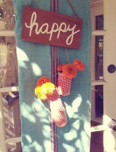 Our splendid happy fall entry! DIY woven basket into hanging vases!