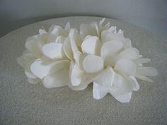 Silk Ivory wedding  fascinator bridal accessory silk by hatmania