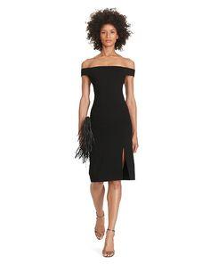 Off-the-Shoulder Ponte Dress - Polo Ralph Lauren Short - RalphLauren.com