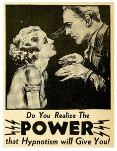 Hypnosis in creative practice; a transdisciplinary investigation of hypnotic phenomena and their application in aesthetic experience. Vintage Advertisements, Vintage Ads, Graphics Vintage, Vintage Images, Retro, Look Into My Eyes, Arte Horror, Vintage Comics, Zine