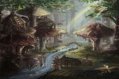 Pin by Afton Jeffries on Dm screen Fantasy landscape Fantasy village Fantasy town