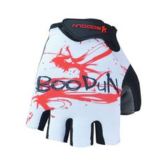 [WHITE]Fixed Gear Half Finger Gloves Men's Cycling Motocycling Gloves