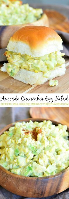 recettes avec des concombres et de l'avocat Egg Salad Recipe with avocado and cucumber. Easy to make and delicious!