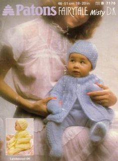 Baby Knitting Patterns Jacket Patons 7176 Baby s jacket, hat, leggins and mitts Knitted Coat Pattern, Baby Cardigan Knitting Pattern Free, Baby Booties Free Pattern, Baby Knitting Patterns, Baby Patterns, Baby Layette, Baby Coat, Knitting For Kids, Free Knitting