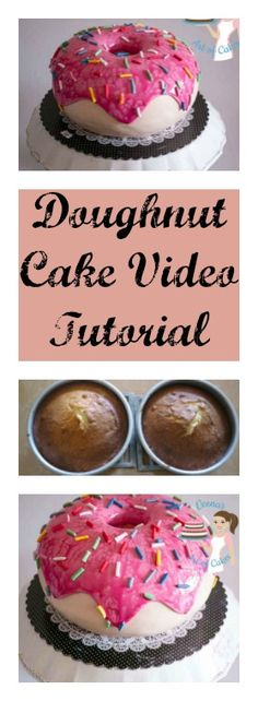 A Doughnut Cake is a super fun cake to make so I decided to take a video and share it with you. It's really easy and if you decide to make it.. just keep a few things in mind.Bake a cake that is easy to carve by Veena's Art of Cakes
