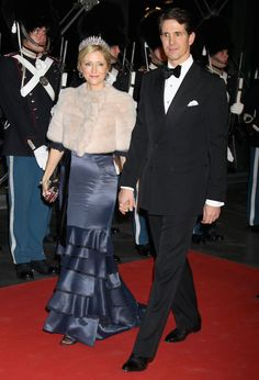40 years of the reign of Margrethe II: a gala performance on January 14, 2012 ~ Crown Prince Marie-Chantal and Crown Prince Pavlos of Greece