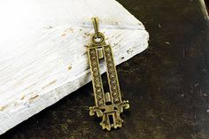 Antique Bronze Ethnic Pendant 24x72mm Metal Bohemian Pendant
