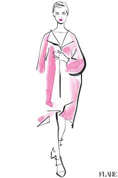 Jil Sander - September 2012 / Illustration by Jacqueline Bissett