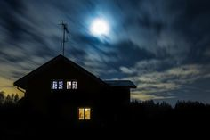Ghost House At Night by Joni Rahunen on 500px
