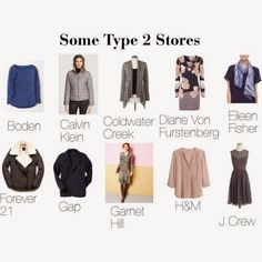 expressing your truth closet: Stores for Type 2 (But it doesn't mention Soft Surroundings, which is the most type 2 store I've ever seen.)