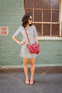 striped topshop dress via @mystylevita - 10
