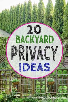 Backyard Privacy Ideas For Screening Neighbors Out - Gardening @ From House To Home Great outdoor privacy screen ideas! I love the DIY trellises and garden screens that look great and help to make your yard more private. Backyard Privacy Screen, Privacy Trellis, Garden Privacy, Privacy Landscaping, Diy Trellis, Privacy Fences, Front Yard Landscaping, Pergola Patio, Landscaping Ideas