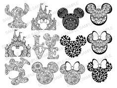 Mickey Mouse, Minnie Mouse Clipart, Disney Mandala Tattoo, Dream Catcher Art, Cricut Stencils, Mouse Tattoos, Mandala Drawing, Mandala Art, Cricut Craft Room
