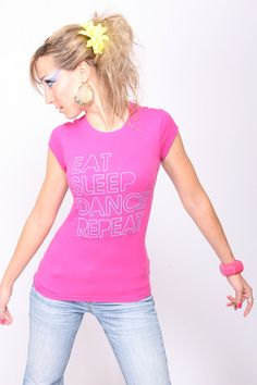 Eat Sleep #dance Repeat tee from Galactic Romance at http://galacticromance.com/collections/all  #galacticromance