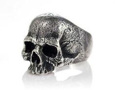 Warrior Skull Ring by Silverlogy.com  Bad-ass ring.