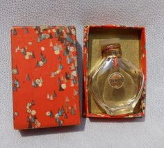 Vintage Miniature Ben Hur Perfume Bottle by Jergens in Art Deco Gift Box
