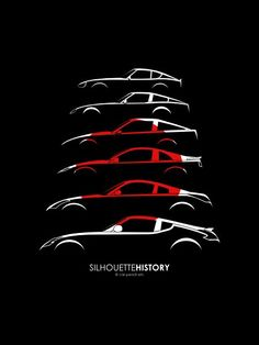 Nissan Z SilhouetteHistory by me Love the #GTR or anything #JDM? We do too! Check us out at www.Rvinyl.com!: